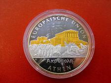 *Selten!Silbermedaille 20 gr Silber/Goldappli PP*Europas Metropolen*Athen