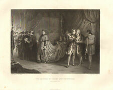 1876 SHAKESPEARE PRINT ~ KING HENRY EIGHTH ~ THE QUARREL OF WOLSEY & BUCKINGHAM