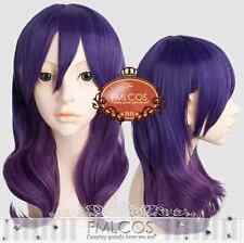 Kiss Him Not Me Kae Serinuma Cosplay Wig Purple Gradient Wavy  Free wig cap No.
