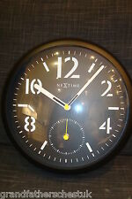 "NEXT TIME NEXTIME WALL CLOCK 13"" RETRO AEROPLANE AIRCRAFT DIAL FANTASTIC LOOK"