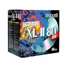 Maxell CD-RW80 XLII  Audio Music Rewritable 80Min Jewel Case ( Box of 10)