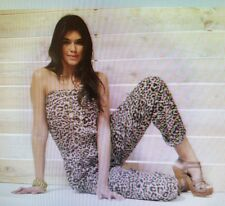 BRAND NEW LADIES STRAPLESS JUMPSUIT,BY TG, SIZE 14,LEOPARD PRINT