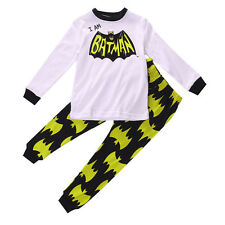 Unisex Toddler Kids Cartoon Spiderman Pajamas For Boys Outfit Set Xmas Sleepwear
