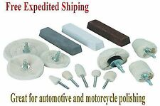 Polishing Polisher Kit Wheels Buffer Billet Aluminum Rims Detailing Buffing