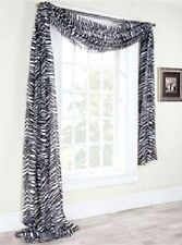 "1 PC SCARF VALANCE TOPPER CASCADING VOILE SHEER FABRIC 35""-37"" WIDE X 216"" LONG"