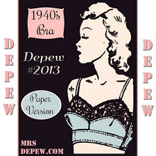 Vintage Sewing Pattern Ladies 1940's Pin Up Style French Bra Multisize #2013