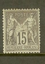 """FRANCE STAMP TIMBRE N° 77 """" SAGE 15c GRIS TYPE II """" NEUF xx TB SIGNE"""