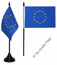 "European Union EU TABLE FLAG 10x15cm 6""x4"" Desk Flag"