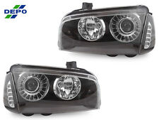DEPO 06-10 DODGE CHARGER PROJECTOR HEADLIGHTS +WHITE LED CLEAR CORNER LIGHT SRT8