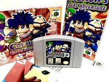 Mystical Ninja GOEMONS GREAT ADVENTURE 2 II Nintendo 64 N64 COMPLETE in Box CIB