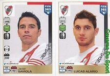 127-128 JAVIER SAVIOLA LUCAS ALARIO ARGENTINA RIVER PLATE FIFA 365 PANINI