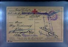 Camp 1917 Russia Siberia POW Kriegsgefangenenpost Rotes Kreuz Red Cross 152