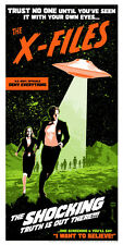 Mulder Scully Classic Sci-Fi Horror Movie Poster Style Silk Screen X-Files Art