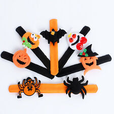 Halloween Pumpkin Spider Bracelet Ring Circle Wristband Decoration Kids Party