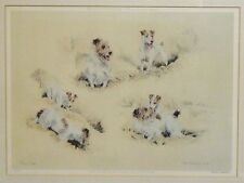 Dog print Ros Goody Limited edition Hay Fever 1989