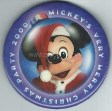 Disney Button - 2000 MICKEY'S VERY MERRY CHRISTMAS PARTY - Circle