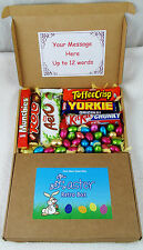 Sweet Retro Gift Postal Box Easter Day Present Nestle,Aero,Yorkie,Chocolate Eggs