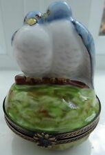 Peint Main Limoges Trinket Box Signed Hand Painted Collectors Item