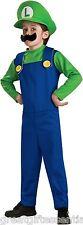 LUIGI Child Costume Large L 12-14 Super Mario Bros Green Nintendo NEW LICENSED