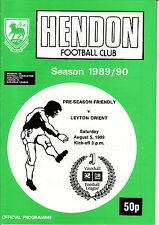 1989/90 Hendon v Leyton Orient Friendly