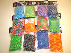 NEW 14400 RAINBOW COLOR LOOM BAND BANDS REFILL 24 BAGS 600 COUNT EACH BAG COLORS