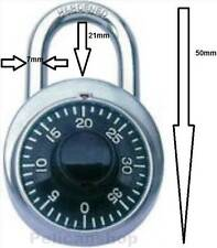 DEFENDER COMBINATION PADLOCK 50MM SECURITY LOCK LUGGAGE SCHOOL LOCKER GARAGE