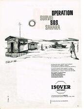 PUBLICITE ADVERTISING  A  1960   ISOVER SAINT-GOBAIN   duvet de verre