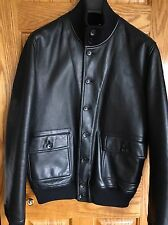 LOUIS VUITTON Men's Reversible Leather & Cashmere Jacket Coat 44