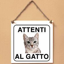 Mau egiziano 3 Attenti al gatto Targa gatto cartello ceramic tiles