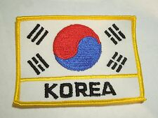 South Korea Country National Flag Rectangle Shaped Patch