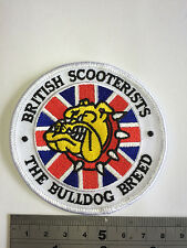 British Scooterist - The Bulldog Breed Patch - Embroidered - Iron or Sew On