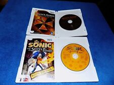 2X LOT WII BROKEN SWORDS & SONIC AND THE SECRET RINGS COMPLETE
