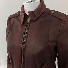 All Saints WOMEN'S medium bomber in pelle rosso vintage