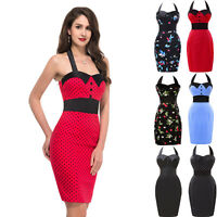 NEW WOMENS VINTAGE 50'S 60'S RETRO PARTY OFFICE PENCIL PIN UP DRESS