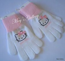 Hello Kitty   Gloves Glove Knit  with   Bow H & M NWT  4 -8 yrs