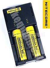 Nitecore i2 2014 Charger+ 2x NL189 3400 18650 Rechargeable Li-ion attery