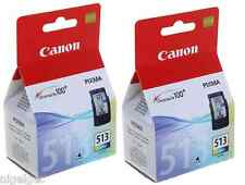 2 X CANON CL513 CL-513 COLOUR PIXMA MP480 MP490 MP492 Original Ink Cartridges