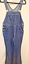 OLD NAVY Bootcut Denim Overalls Dark Wash Womens 16 Measures 34 x 30