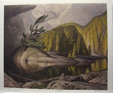 "A.J. CASSON group of seven Sunlit Isle art print RARE 18"" x 22"" with biography"