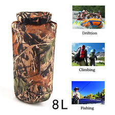 8L Camo Outdoor Dry Pouch Bag Camping Climbing Hiking Floating Kayak Waterproof