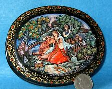 Russian Fairy Folk Tale Little Havroshechka LACQUER hand painted box KHOLUI