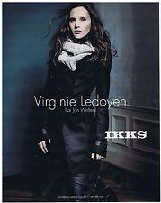 PUBLICITE ADVERTISING 114 2011 IKKS Virgine Ledoyen par Jan Welters