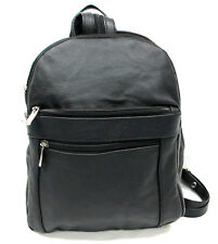 Designer Medium Size Genuine Leather Double Strap Backpack Sling Two in One Blk