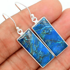 Shattuckite 925 Sterling Silver Earrings Jewelry SKTE45