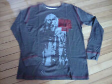 NEW MENS AMC THE WALKING DEAD MEDIUM THERMAL SHIRT ZOMBIES WALKERS GRAY