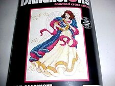 Dimensions Counted Cross Stitch Angel of Harmony Kit Harp Lyre Music 1995
