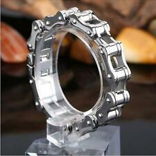 Cool Men Silver Stainless Steel Motorcycle Bike hand Chain Charm Bracelet S