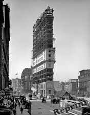 Photograph Vintage New York  Times Square  Building Construction 1903  8x10