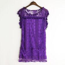 Womens Summer Short Mini Dress Lace Crochet Casual Evening Party Beach Sundress