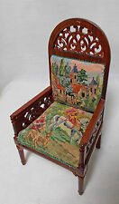 Dollhouse Miniature Antique Austrian Petit Point Wooden Chair (ref: Chair 1)